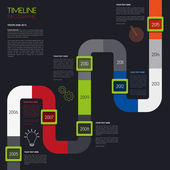 Vector timeline infographic. Modern simple design. — Stock Vector