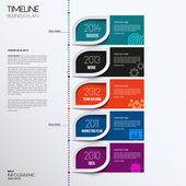 Vector infographic timeline showing business plan with icons. — Stockvector