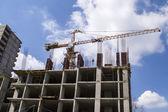 House construction, crane — Stock Photo