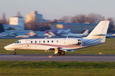 Landing in airport — Stock Photo