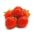 图库照片: Strawberry on white