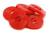 Red spiral jellies — Stock Photo
