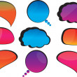 Cool speech bubbles — Stock Vector
