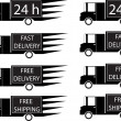 Delivery trucks — Stockvectorbeeld