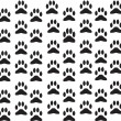 Dog foot print background — Stock Vector