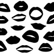 Set of woman lips — Stock Vector