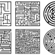 Maze illustration — Stock Vector