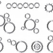 Gear wheels — Stock Vector