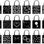 Shopping bag silhouette — Stock Vector #34681539
