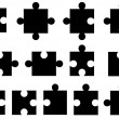Puzzle pieces — Vector de stock #34681559