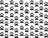 Dog foot print background — Stockvector