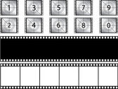 Film strips and countdown — Stock Vector