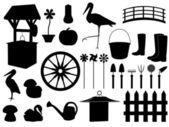 Décorations de jardin — Vecteur