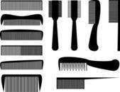 Hair combs — Stock Vector