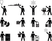 People holding stuff — Stockvector