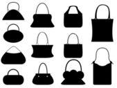 Ensemble de sac à main femme — Vecteur