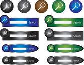 Search bars — Stock Vector