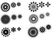 Unique gear wheels — Stock Vector