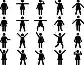 Woman pictograms — Vettoriale Stock