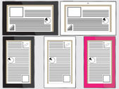 Tablets with status panels — Stock Vector