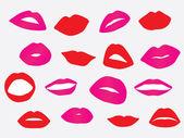 Set of woman lips — Stock Vector