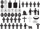 People pictogram for Easter — 图库矢量图片