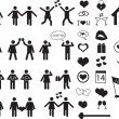 Stock Vector: People pictogram for Valentine Day