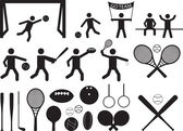 Sport pictogram people and objects — Stock vektor