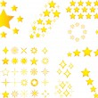 Stock Vector: Yellow stars