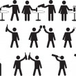 Pictogram people drinking — Stock Vector