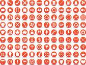 Orange icons — Stockvektor