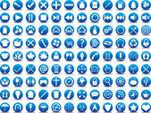 Blue icons — Stockvektor