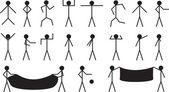Stick people — Cтоковый вектор