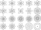 Atom shapes — Stockvektor