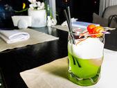Green melon cocktail — Stock Photo
