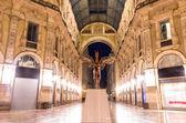 Vittorio Emanuele gallery by night,Milan — Stock Photo