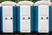 Toilette cabins outside — Foto Stock