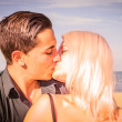 A kiss on the beach — ストック写真