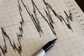 Trading technical anaysis.Japanese candlesticks — Stock Photo