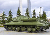 Heavy soviet tank — Stock Photo