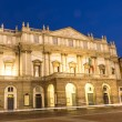 La Scala opera theatre in milano.Night view with light effect — Stock Photo