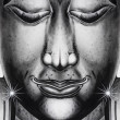 Silver buddha.Close up view — Stock Photo