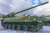 Russian vintage tank in ekaterinburg — Stock Photo