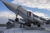 Mig 31 supersonic interceptor — Stock Photo