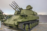 Cold war russian tank — Stock Photo