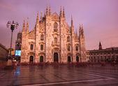 Milano at sunset — Stock Photo