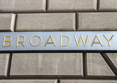 Broadway sign in New York — Foto Stock