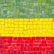 Bolivian flag mosaic — Stock Photo