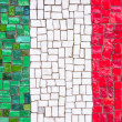 Italian flag mosaic — Stock Photo