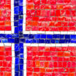 Flag of Norway mosaic — Stock Photo